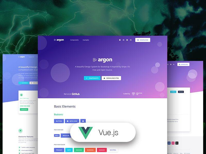 Vue Argon Design System - VueJS