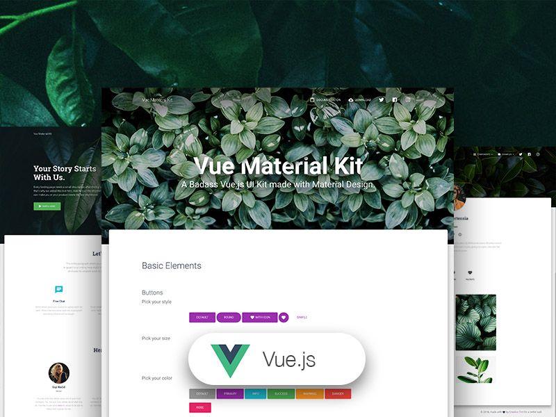 Vue Material Kit - VueJS
