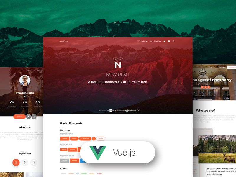Vue Now UI Kit - VueJS