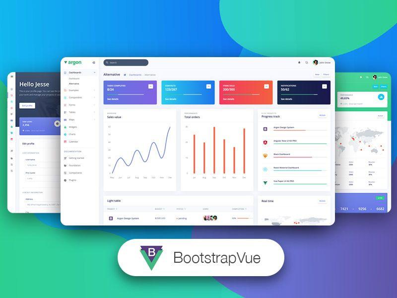 BootstrapVue Argon Dashboard PRO - VueJS