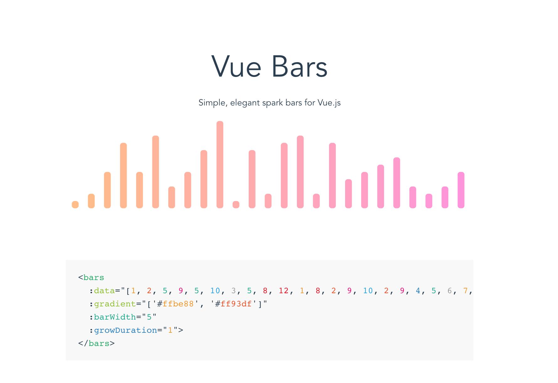 Vue Bars - VueJS